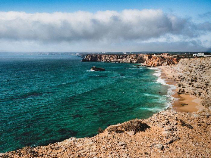 EyeEm Selects Water Sea Beach Sand Yacht Rock - Object Sky Horizon Over Water Cloud - Sky Coastline Seascape Coast Ocean Seashore Wave Calm Shore EyeEmNewHere