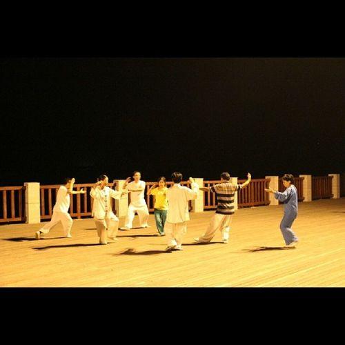 太极拳 广场舞 中国大妈 Taiji kungfu Chinesekungfu ningguo 饭后散步