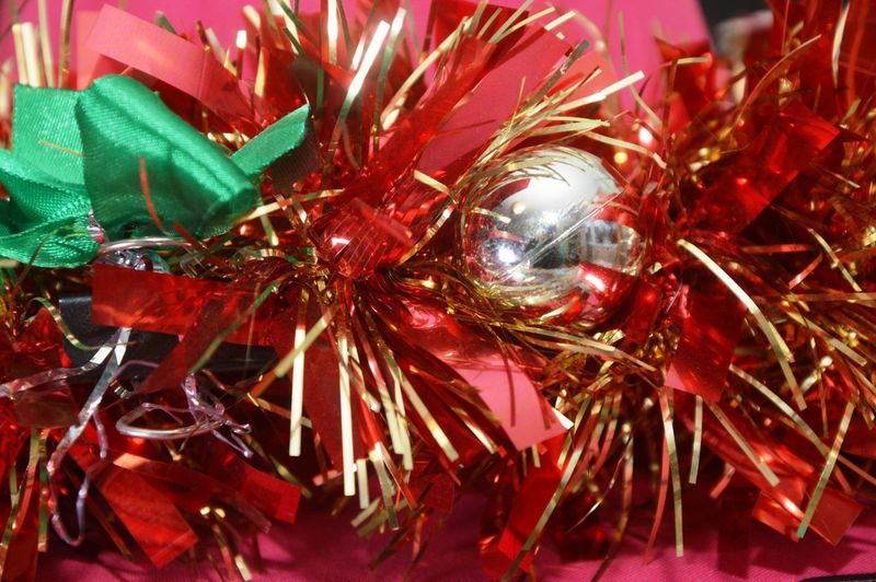 Close-up of christmas decorations