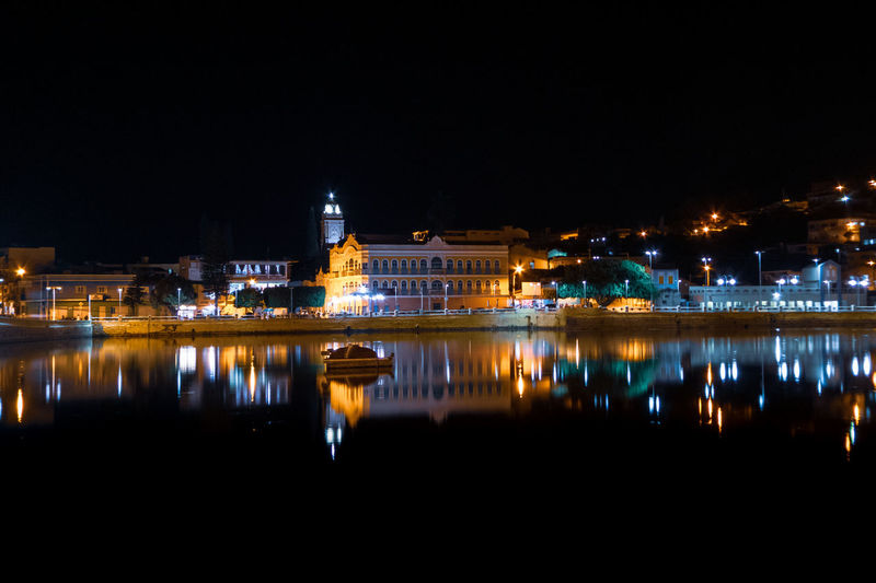 Illuminated Night Reflection Building Exterior Architecture Built Structure Water Copy Space City Sky Waterfront No People River Nature Travel Destinations Building Outdoors Clear Sky Travel Pernambuco