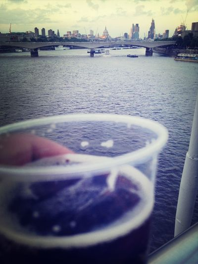 Courvoisier + London relaxing on the bridge Cityscapes Bridge London Courvoisier