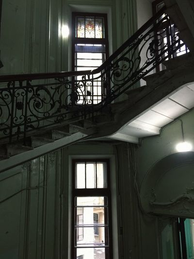 Window Architecture Built Structure Indoors  Low Angle View No People Day Stained Glass Lighting Equipment Building Glass - Material Glass Railing Sunlight Illuminated Hanging Wall - Building Feature Electric Lamp Ornate Ceiling