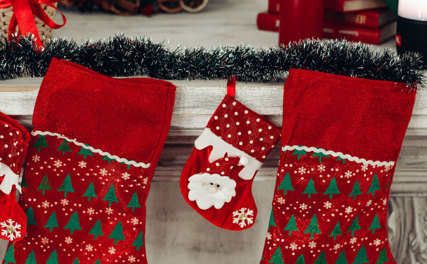 Red No People Celebration Christmas Focus On Foreground Holiday Day Close-up Representation Pattern Stuffed Still Life Gift Outdoors Creativity White Color Holiday - Event Textile
