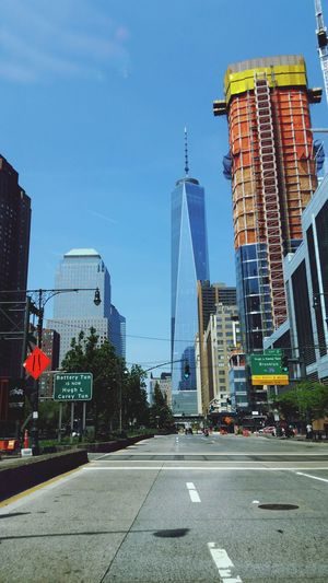 NYC Freedomtower Monuments Gorgeous Tall Buildings Proud Sky Perfect Weather Beautiful Lifesgood #SkyScraper