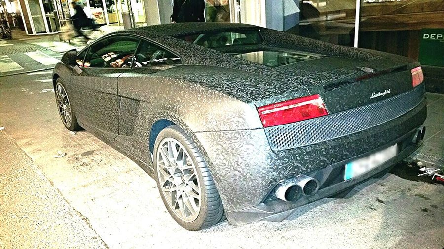 Lamborghini Vintagelamborghini Sdcphoto Hauptwache Frankfurt Am Main Shone Verygood Car