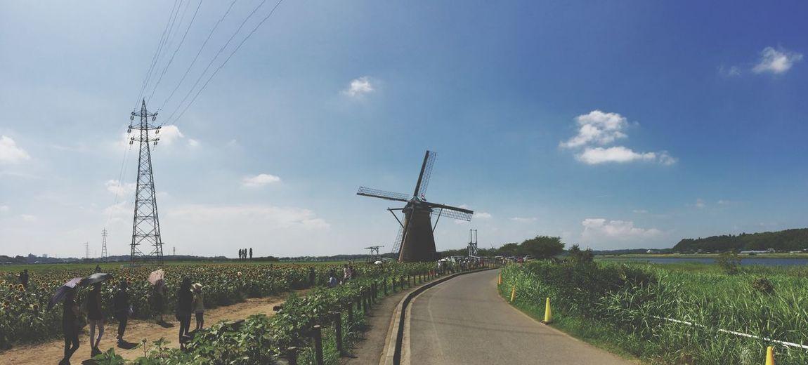 Enjoying The Sun Excercising 🚴🏻🚀💨🚵🏻💨💦💦汗 IPhone Photography Japan Windmill
