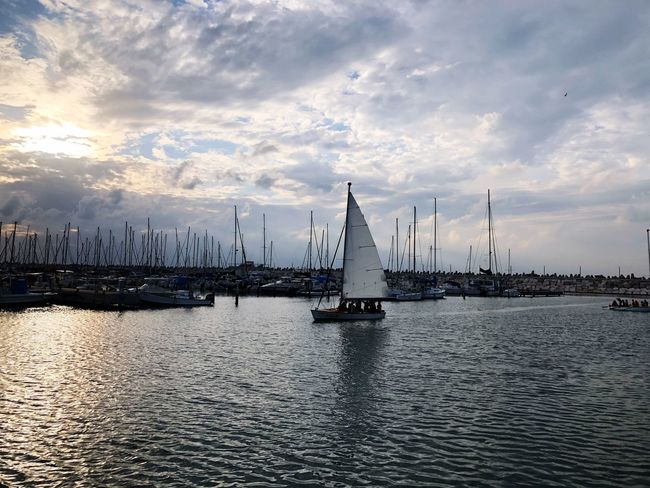 Ashkelon Sailing Ship Sailing Harbor Port Cloud - Sky Sky Nautical Vessel Mast Sailboat Water Transportation Mode Of Transport Outdoors No People Sea Waterfront Rippled Harbor Nature Scenics Beauty In Nature Sailing Tranquility Day