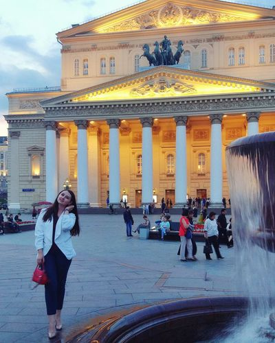 Architecture Built Structure History Travel Destinations Building Exterior Architectural Column Lifestyles Outdoors Real People Standing Vacations People Sky Adult Adults Only Politics And Government Day City Celebrities EyeEm Selects Model Moscow City Moscow Nature Architecture