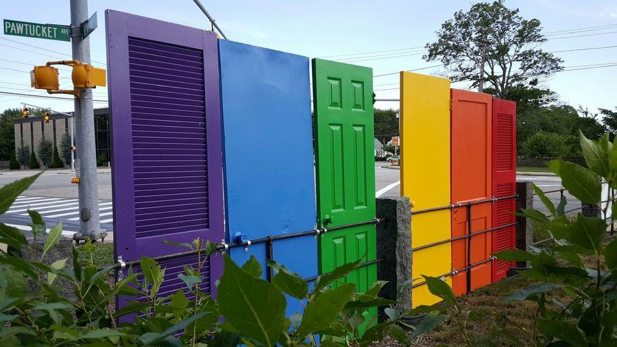 Rainbow Colored Doors EyeEm Best Shots Rhode Island Photography⚓ Colour Of Life EyeEm Gallery Eyeemphotography EyeEm Colors And Patterns S6