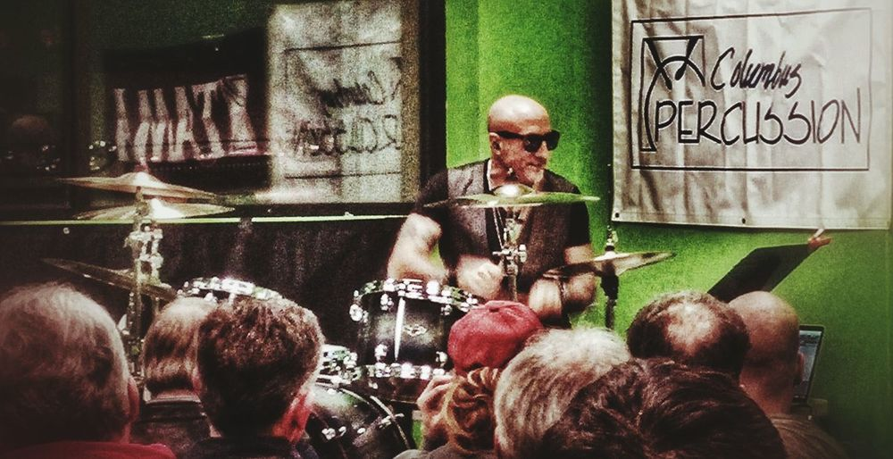 Kenny Aronoff drum clinic. Columbus Percussion Kenny Aronoff Drum Clinic Snapseed