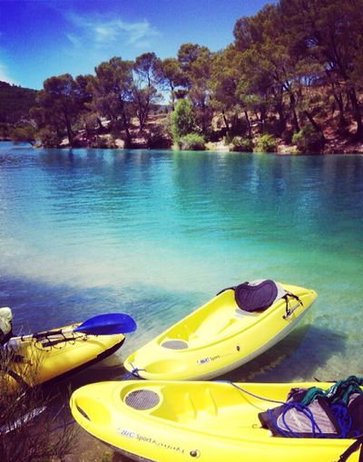 First Eyeem Photo Yellow Tranquil Scene Verdon Gorge Kayak Water Beauty In Nature