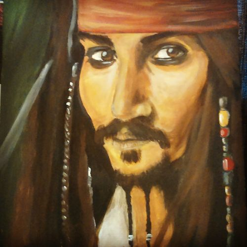 Repainted another version of Jack because the last one was just wrong Jack Sparrow Pirates Of The Caribbean Pirate Art Art, Drawing, Creativity Artist ArtWork Painting Johnny Depp Check This Out