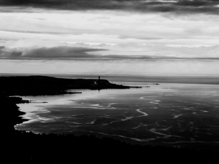Sky Water Reflection Cloud - Sky Nature No People Tranquility Tranquil Scene Beauty In Nature Sea Scenics Outdoors Built Structure Day Landscapes Monochrome Outdoors Photograpghy  Blackandwhite EyeEm Best Edits EyeEm Gallery EyeEmBestPics EyeEm Best Shots Northern Ireland Belfast Sky And Clouds Welcome To Black