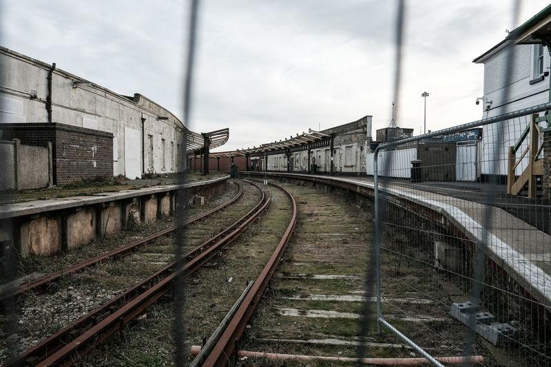Closed Down Coast England England, UK England🇬🇧 Geometry Harbour Lines Lines And Shapes Mer Rail Railing Sea Shut Down Train Uk