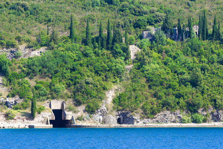 A tunnel for submarine inside of a mountain in the Bay of Kotor, Montenegro Architecture Balkan Bay Of Kotor Beautiful Cypress Trees  Earth Fjord History Hole Kotor Land Montenegro Nature Submarine Submarine Tunnel Tourism Tourist Travel Travel Destinations