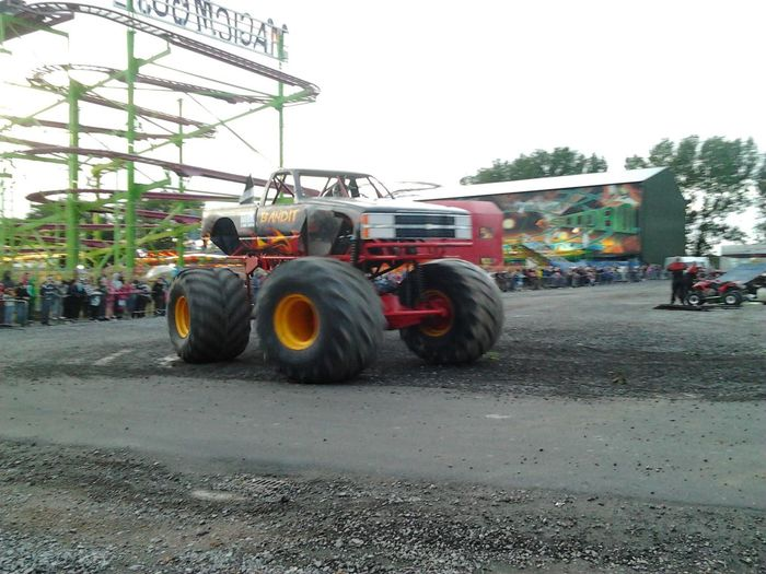 We all went to the monster truck rally Bream Sands Leisure Park Burnham On Sea