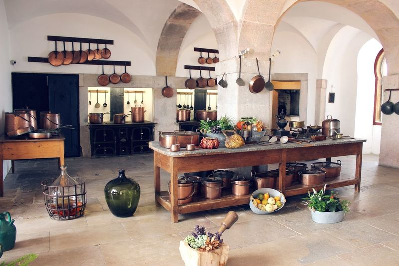 The kitchen at