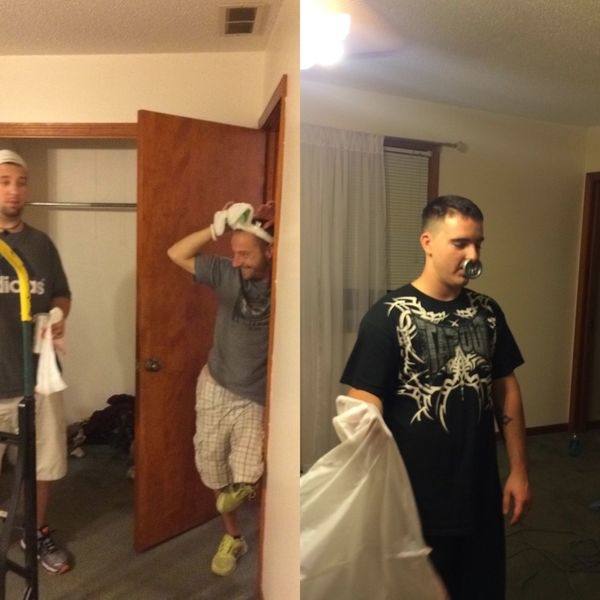 My nutty family, trying to pack and move. Fail. Brothers Cousins  Moving Goofballs