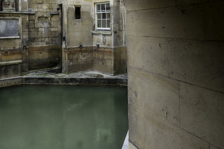 Bath Great Britain Water Ancient Pool Roman Bath Reflection Old Architecture
