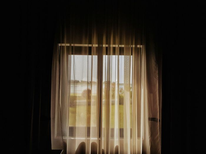 Black Background Curtain Window Textile Close-up Hanging Light Translucent Drapes  See Through Energy Hanging Colliding Leaking Slimy Frosted Glass Float Building Shaped Healthy Splashing Droplet