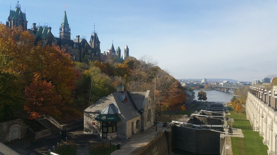 Ottawa Outdoors Water Architecture Rideau Canal Tree Sky City Cityscape No People Day Landscape Fallcolors