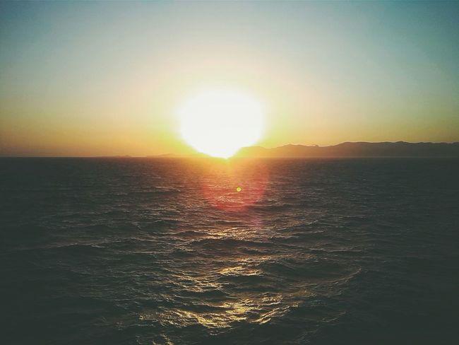 Way back. Sea Enjoying The Sunset Coldfocus Videoproduction Lunarossa Sardinia Sardegna Italy