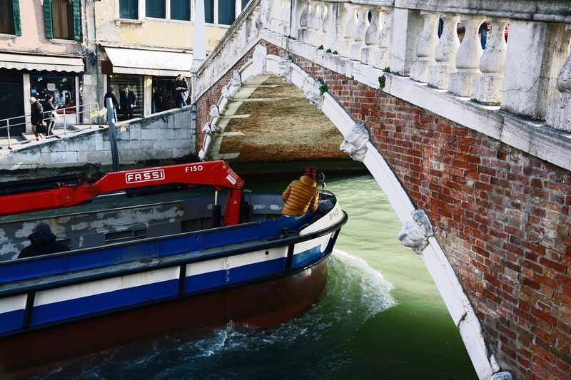 Venice Venezia Venice, Italy Bridge Boat Architecture Nautical Vessel Building Exterior Canal Built Structure Water Transportation Outdoors Day No People Beautiful Travel Destinations Transportation Winter Waterfront Europe Gondola - Traditional Boat Beauty Capture The Moment Second Acts Rethink Things