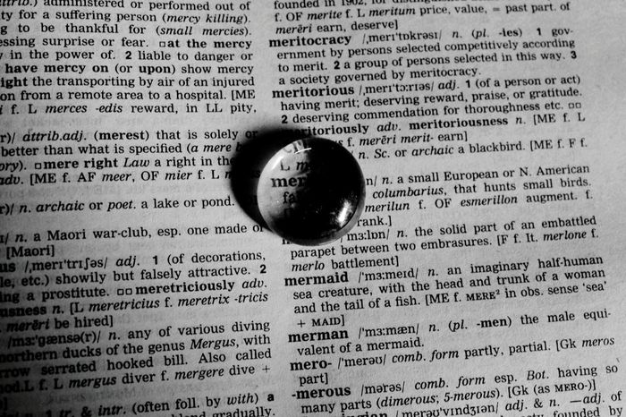 Water Bubble on Dictionary Blackandwhite Photography Check This Out Random Photo  .