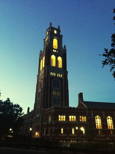 On The Road On Travel New Haven, CT Yale University Architecture Built Structure Building Exterior Sky The Past Illuminated Building Travel Destinations History Clock Tower Tourism Dusk Tower