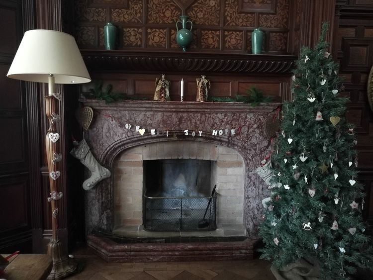 Fireplace Indoors  Luxury Home Interior No People Architecture Living Room Home Showcase Interior Tree Day Christmas Lights Decoration Christmas Christmas Tree