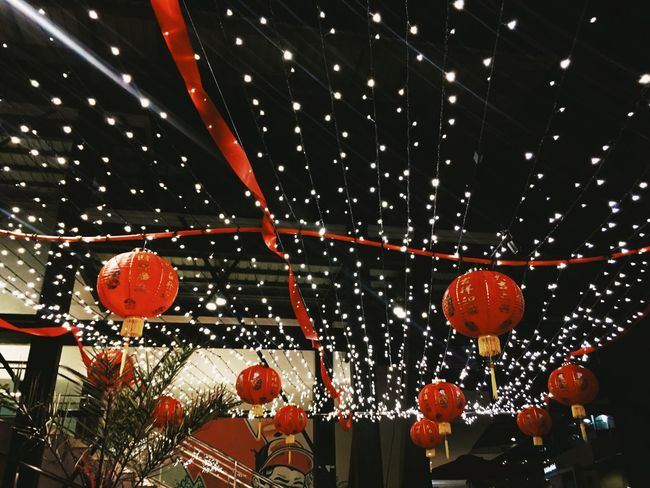 kung hei fat choi Lighting Equipment Hanging Low Angle View Chinese Lantern Chinese Lantern Festival Outdoors Kung Hei Fat Choi