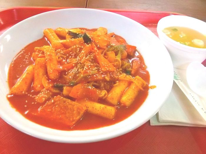 Meal I had before work the other day. Love ddukbokki Korean Food Korean Tasty Dishes Tasty !