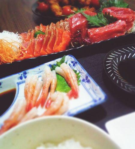 晩ごはん☆彡.お刺身 Dinner Table Foodporn Japanese Food Sasimi My House