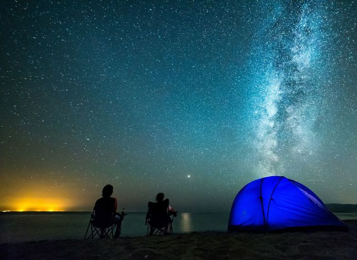 Camping under the stars Astronomy Galaxy Milky Way Star - Space Tent Space Silhouette Adventure Constellation Camping Space And Astronomy Starry Shore Star First Eyeem Photo