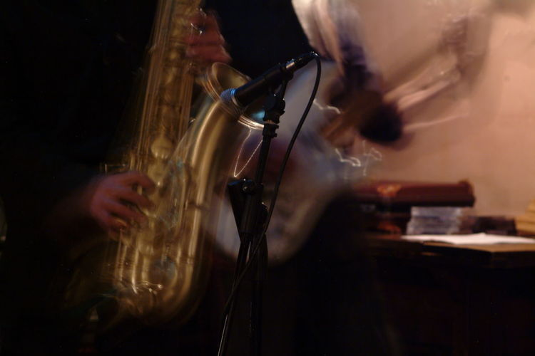 SaxMachine Arts Culture And Entertainment Close-up Day Holding Human Hand Indoors  Jazz Music Men Midsection Music Music Musical Instrument Musician Nightlife Occupation One Man Only One Person Only Men People Performance Playing Real People Saxophone Skill  EyeEmNewHere