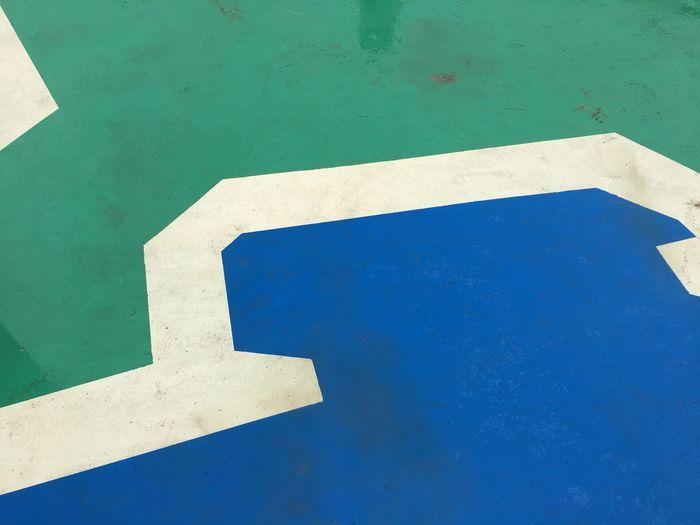 Blue High Angle