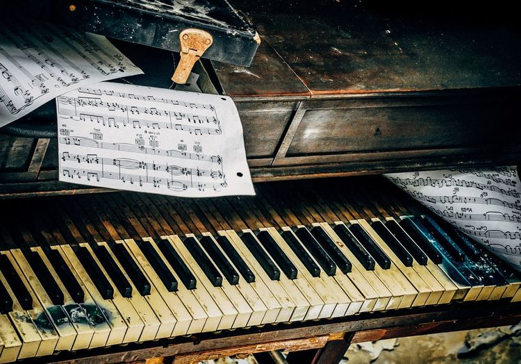 Text Western Script Communication No People Piano Close-up Indoors  Musical Equipment Music Piano Key Keyboard Instrument