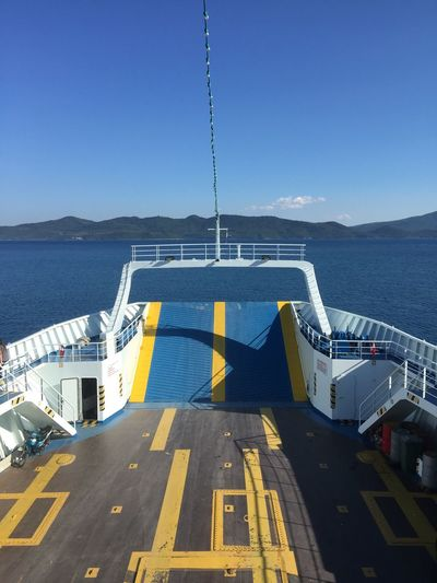 It comes to take me away. (4) Greece Photos Glyfa Transportation Ferry Passenger Craft Waterfront Blue Sea Clear Sky Nautical Vessel