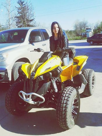 Big Baby 1000 Cubic ATV Ride if only I could drive you without smashing, somebody :D ;_____; Keep Off The People Plz