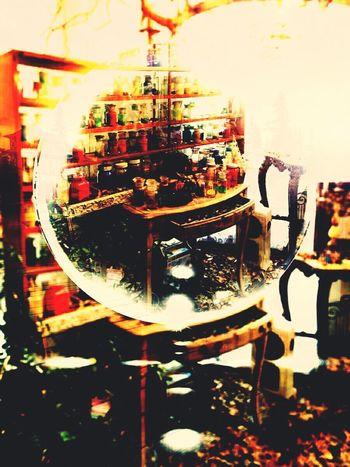 Wood Laboratory Magic Art Bottes Cabinet Shelf