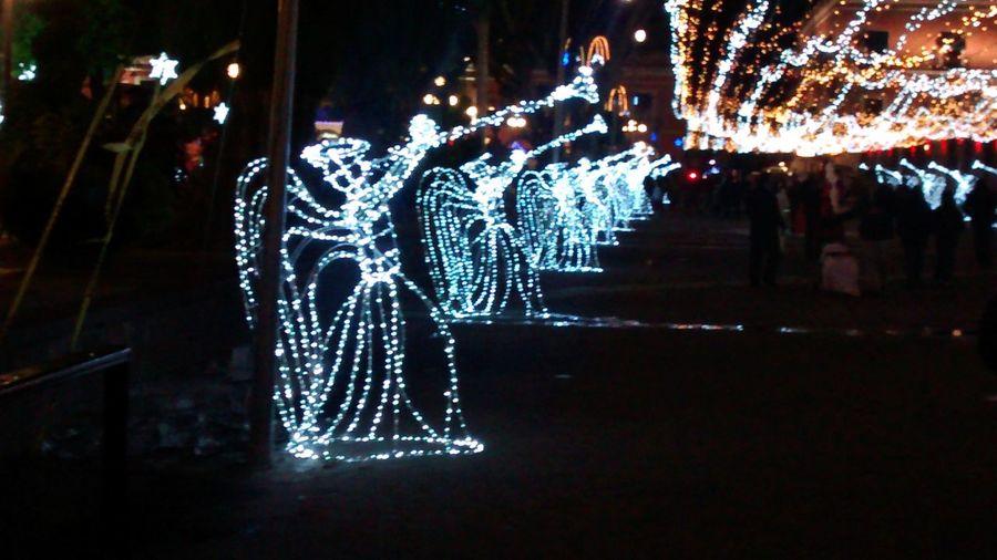 Puebla De Zaragoza Christmas Lights Christmaslights Angel