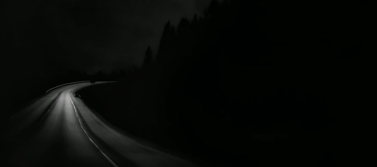 darkness Road Solitude Black And White Black Noir Non Urban Scene Shadows & Lights Trees Silhouettes Brightness Nature Alone Silence Abstract EyeEm Nature Lover Mountain Addict The Magic Mission