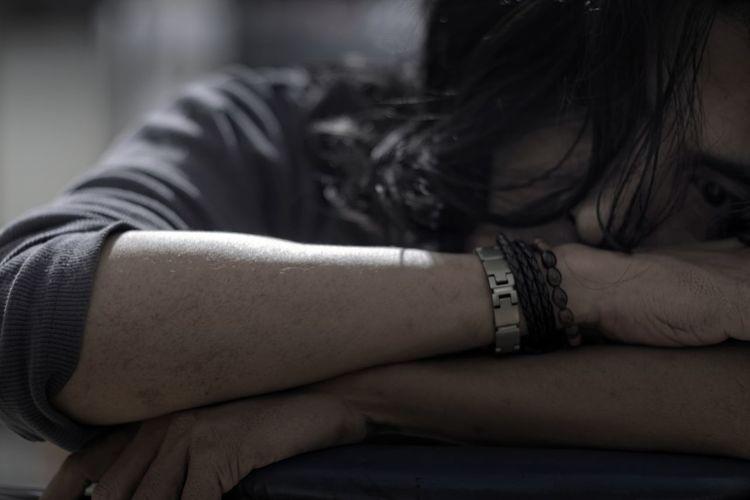Close-Up Of Depressed Man