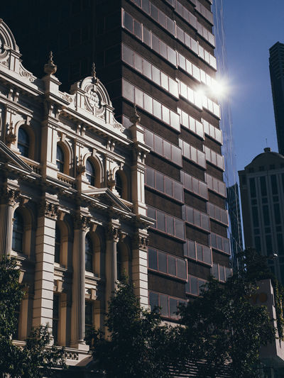 Brisbane Australia Architecture Built Structure Building Exterior City Low Angle View Building No People Sky Nature Sunlight Travel Destinations Day Sunbeam History Outdoors The Past Travel Window Architectural Column Office Building Exterior