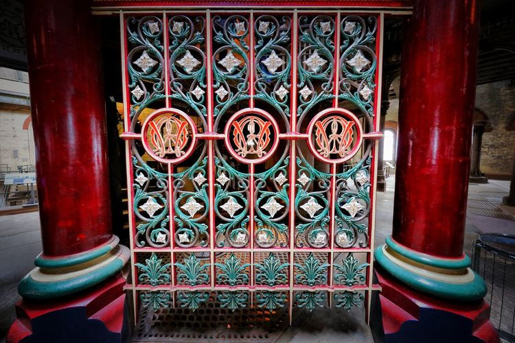Crossness Pumping Station Architecture Pattern Indoors  Built Structure Design Building Red