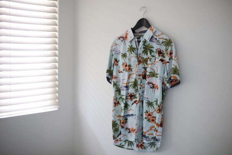 EyeEm Selects Wall - Building Feature Indoors  One Person Real People Rear View Lifestyles Leisure Activity Adult Clothing Floral Pattern Standing Home Interior Day Women Pattern White Color Robe Hanging Three Quarter Length Contemplation