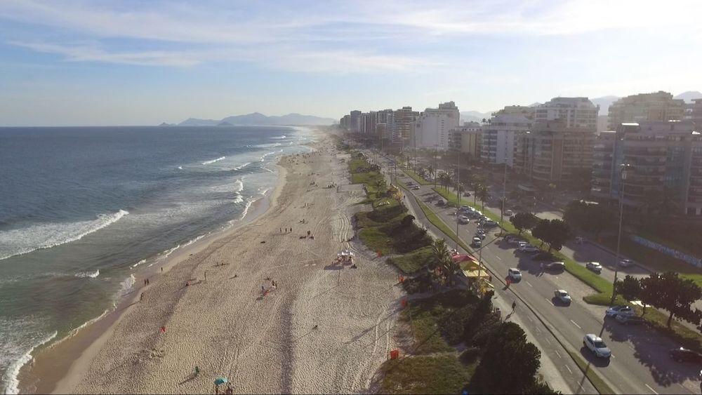 Praia da Barra Barra Da Tijuca, Rio De Janeiro Drone  Beach Beauty In Nature City Day Dronephotography Horizon Over Water Nature No People Sand Sea Sky Water