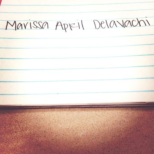 Writing My Girlfriends Name Down. ☺