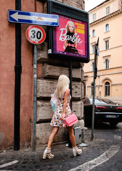 Street shot, Rome 2016 Barbie Barbie Doll City Everydayness Italy Lifestyles Pretty In Pink Rome Streetphoto_color Streetphotography Urban Urban Phenomenology Showcase July My Year My View