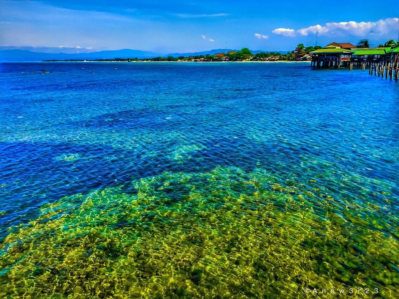 Cagayan De Oro, Philippines CDO Floating Restaurant Bay Seaviewcollection Seaview View Coral Reefs Clear Water Water Around Beach Philippines Restaurants Restaurant Green Sky And Clouds Blue Sky